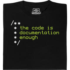 De code is genoeg documentatie