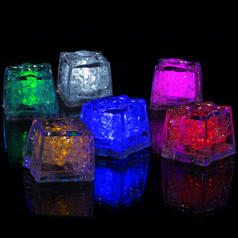 Glowing LED Ice Cubes