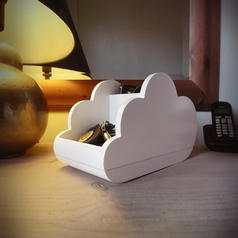 Cloud Storage Wooden Desk Tidy