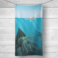 Cthulhu Beach and Bath Towel