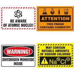 Chemistry Warning Fridge Magnets