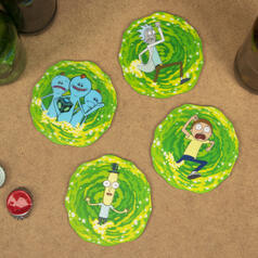 Rick & Morty 3D Portal Coasters